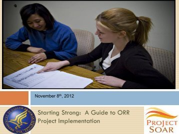 Starting Strong: A Guide to ORR Project Implementation