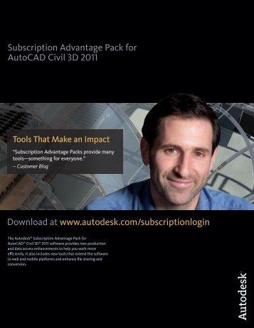 Subscription Advantage Pack for AutoCAD Civil 3D 2011 ... - Autodesk