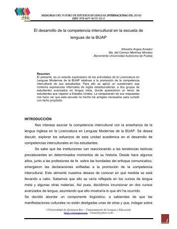 El desarrollo de la competencia intercultural en la escuela de ...