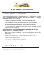 MBA Resume Guidelines - Robert H. Smith School of Business MBA ...
