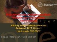 Báthory emlékkonferencia előadás. Budapest, 2012. június 1.