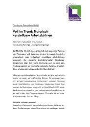 Voll im Trend: Motorisch verstellbare Arbeitsbühnen - Günzburger ...