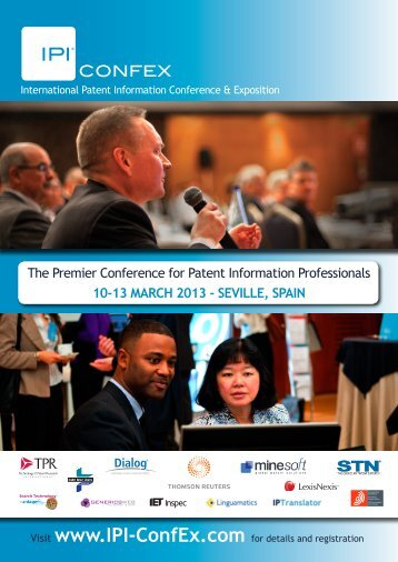 The Premier Conference for Patent Information ... - IPI-ConfEx