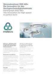 Stromabnehmer SSS 400+ Die Innovation für den ... - MELECS
