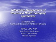 Integrative Management of Depressed Mood - Integrative Mental ...