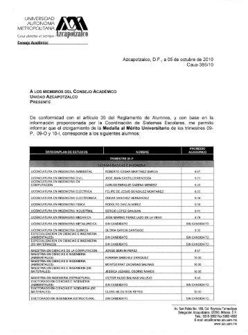 UNIVERSIDAD AUTONOMA METROPOLITANA - UAM Azcapotzalco