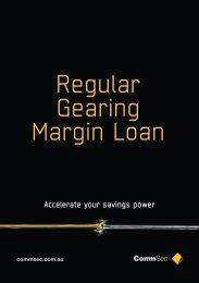 Regular Gearing Margin Loan - CommSec