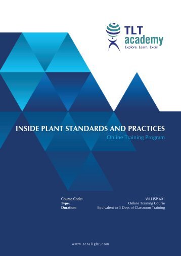 InsIde Plant standards and PractIces - Teralight