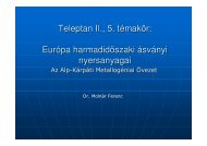 Európa harmadidőszaki metallogéniája