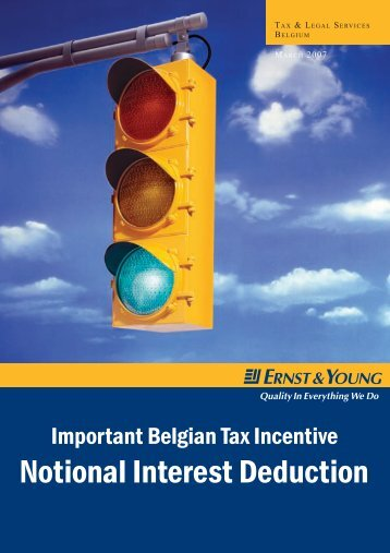 Ernst & Young Notional Interest Deduction - Wallonia