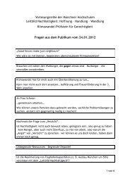 Fragen aus dem Publikum - BenE – München