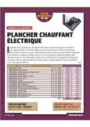 PLANCHER CHAUFFANT ELECTRIQUE ´