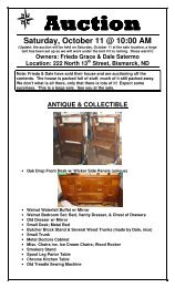 Saturday, October 11 @ 10:00 AM - North Star Auction & Appraisal