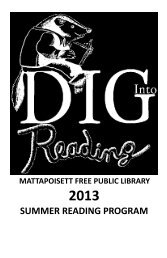 Dig Into Reading - Mattapoisett Free Public Library