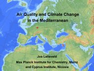 Air Quality and Climate Change in the Mediterranean