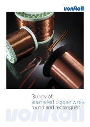 Survey of enamelled copper wires, round and rectangular - Von Roll