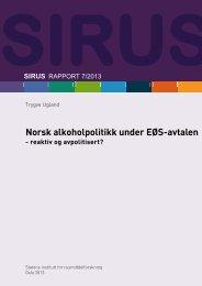 Last ned fulltekst av rapporten (PDF) - Sirus