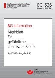 BGI 536 - MK - Wirtschaftsdienst GmbH