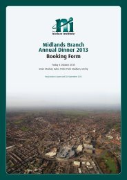 Midlands Branch Annual Dinner 2013 Booking Form - YGN Newsletter