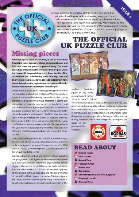 Missing Pieces - Jigsaw Puzzles