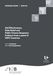 Aid Effectiveness, Debt Relief and Public Finance Response ...