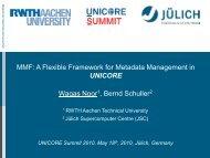 Metadata Manager - Unicore