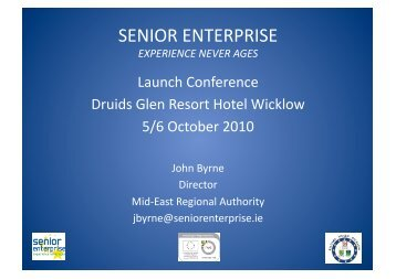 View or download the presentation - Senior Enterprise
