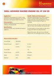 Shell Fuel Datasheets