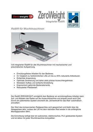 ZeroWeight Integrierter Radlift Radlift für ... - Hofmann Megaplan
