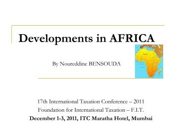 Developments in AFRICA - Foundation for International Taxation
