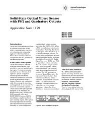 Solid-State Optical Mouse Sensor with PS/2 and Quadrature Outputs ...