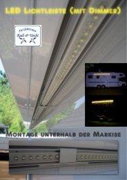 LED Lichtleiste unter Markise am Wohnmobil montieren (mit Dimmer)