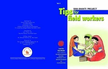 Tips for Field Worker s Vol 2 - Vanbandhu Kalyan Yojana