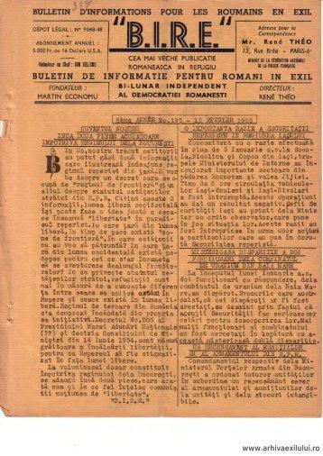 BIRE NR. 195 - arhivaexilului.ro