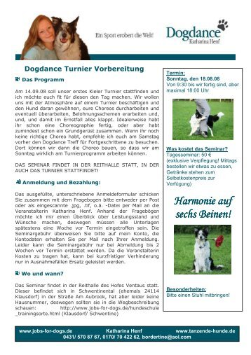 sechs Beinen! - Dogdance - Katharina Henf