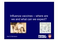 Influenza vaccines – where are we and what can we expect?