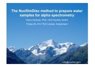 The NucfilmDisc method to prepare water samples for ... - Nucfilm.com