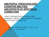 Ametropia,Preschoolers and effects of spectacle correction