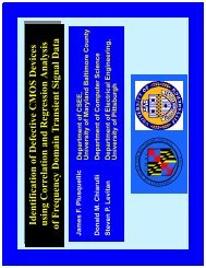 Identification of D efective C M O S D evices of F requency ... - UMBC