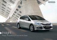 Insight Preise, Ausstattung, technische Daten (PDF, 2.4 MB - Honda