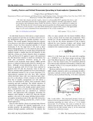 Landé g Factors and Orbital Momentum ... - University of Iowa