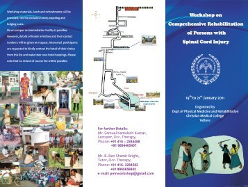 OT Worshop Brochure - Christian Medical College