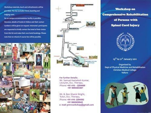 OT Worshop Brochure - Christian Medical College