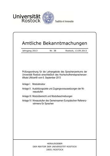 Prüfungsordnung - Sprachenzentrum - Universität Rostock