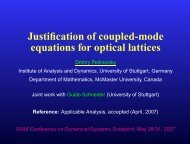 Justification of coupled-mode equations for optical lattices - Dmitry ...