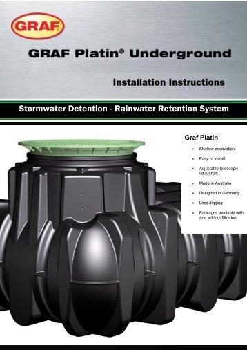 Graf Platin Underground - Storm water detention system | Reece ...