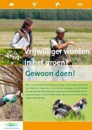 Vrijwilliger worden in het groen? - Landschapsbeheer Zuid-Holland