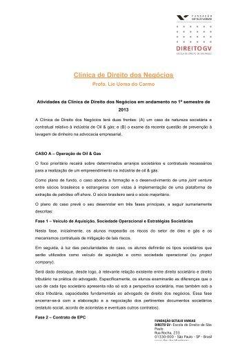 Clínica de Direito dos Negócios - Escola de Direito de São Paulo ...