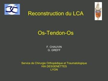 Reconstruction du LCAE Os-Tendon-Os Technique du tunnel borgne