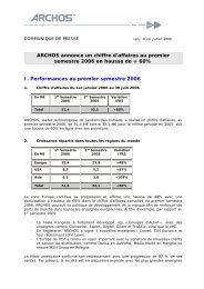 ARCHOS annonce un chiffre d'affaires au ... - Zonebourse.com